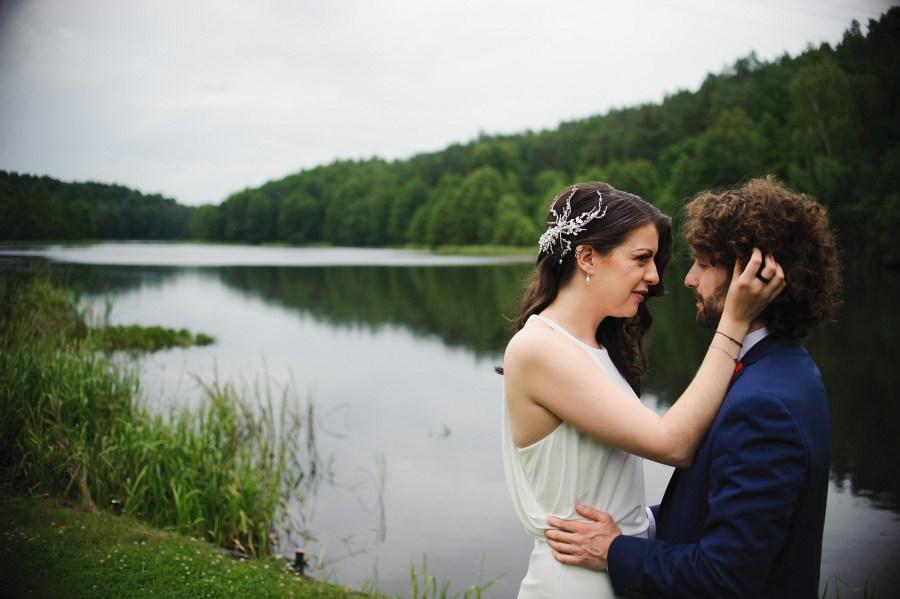 sesja ślubna tleń jezioro