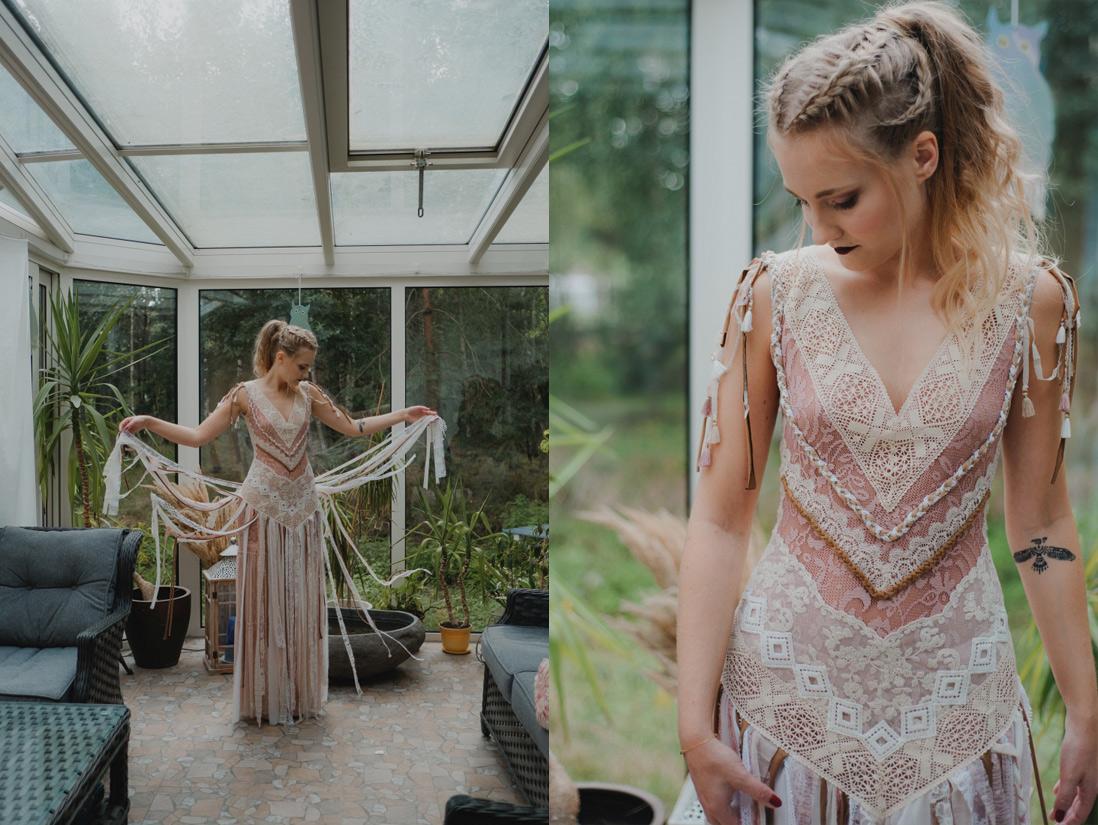 indiańska suknia ślubna