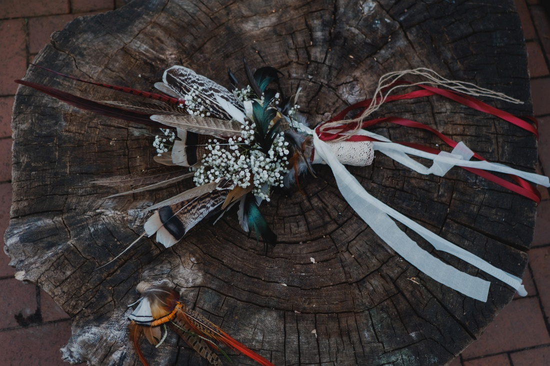 indiański bukiet ślubny
