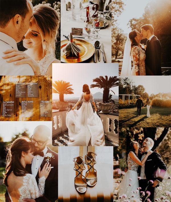 warm tones wedding presets