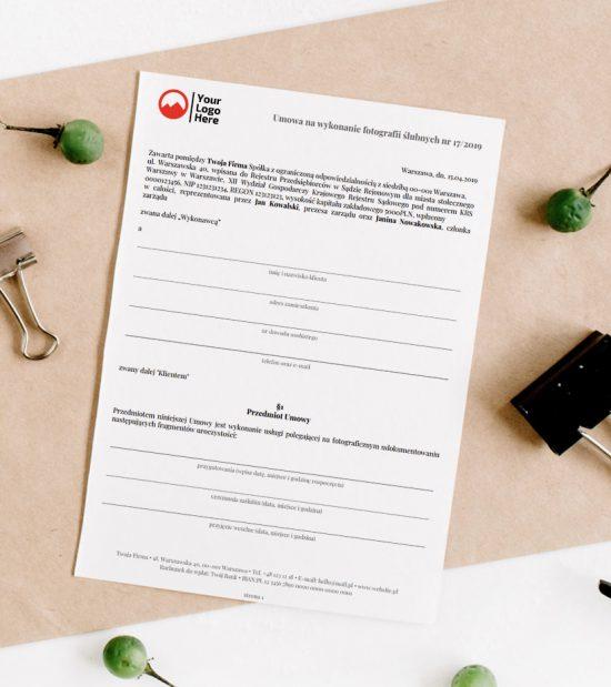 wzór umowy ślubnej